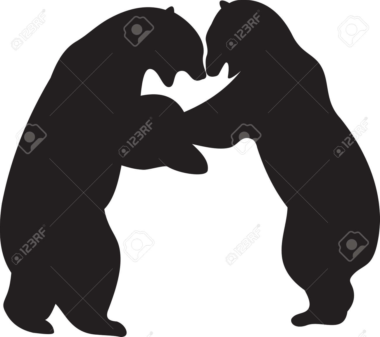 bear silhouette stock photos royalty free bear silhouette images  - bear silhouette bear vector