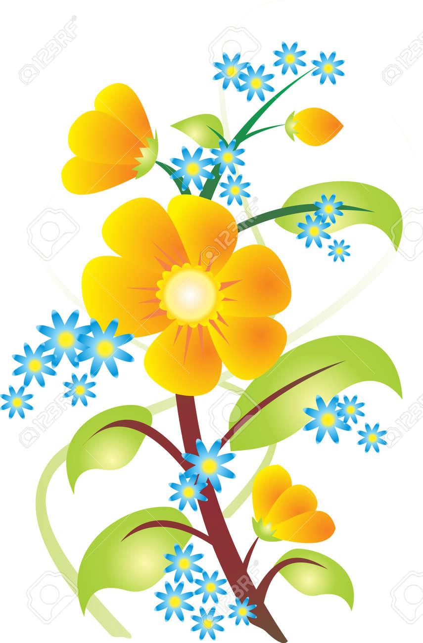 Flower vector Stock Vector - 9174956