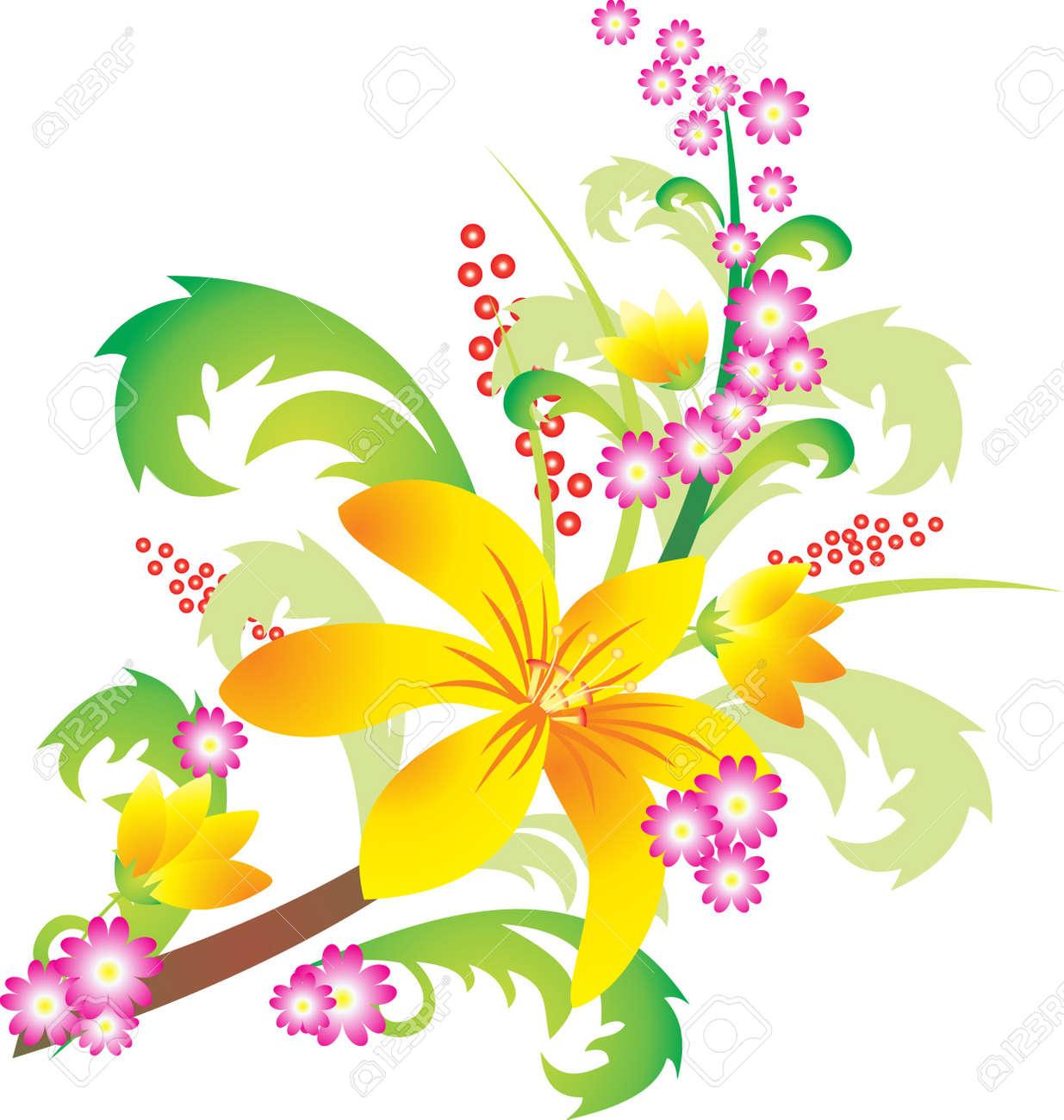 Flower vector Stock Vector - 9174960