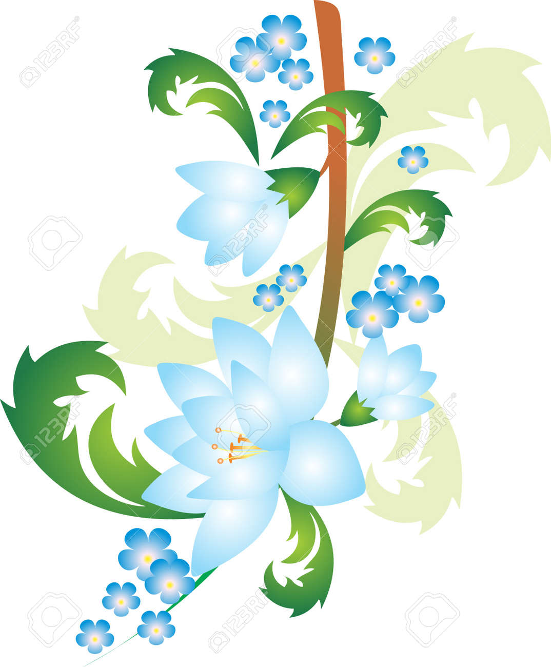 Flower vector Stock Vector - 9181676