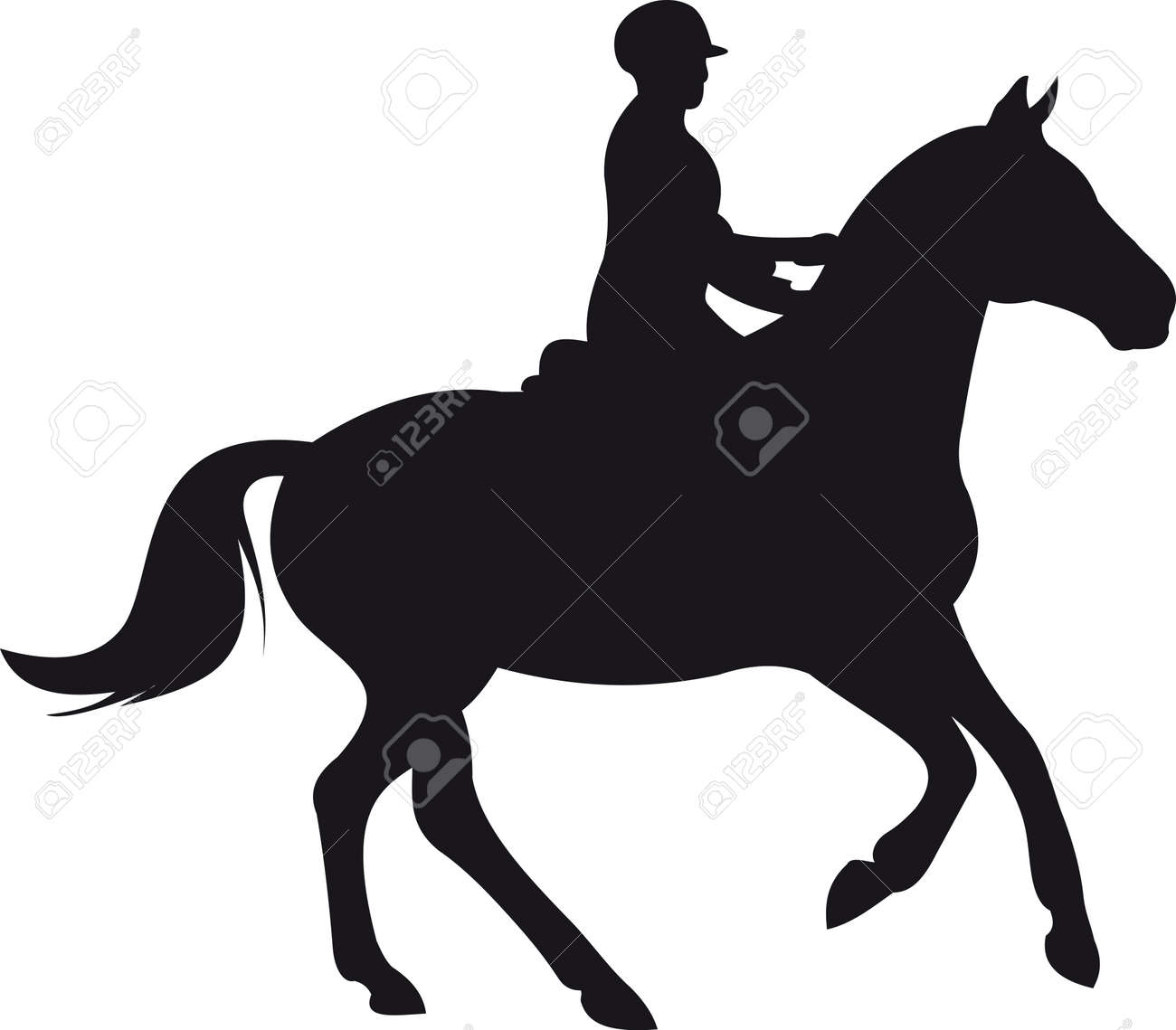 horse silhouette vector - 9174962