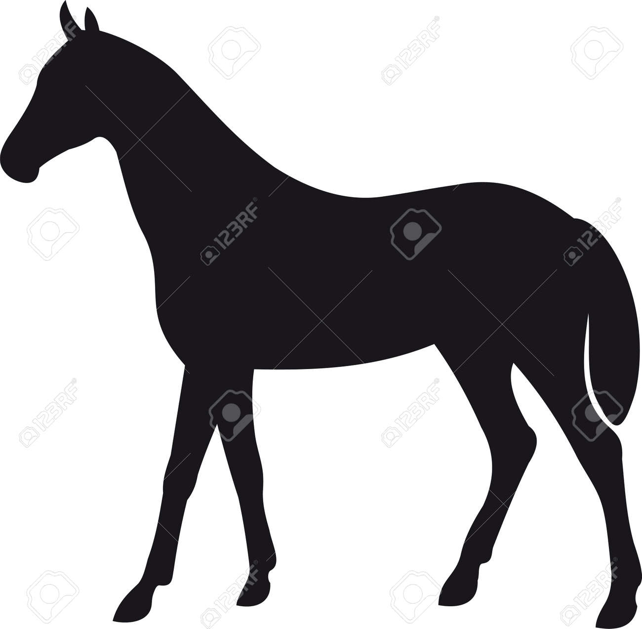 horse silhouette vector royalty free cliparts vectors and stock rh 123rf com running horse silhouette vector rocking horse silhouette vector