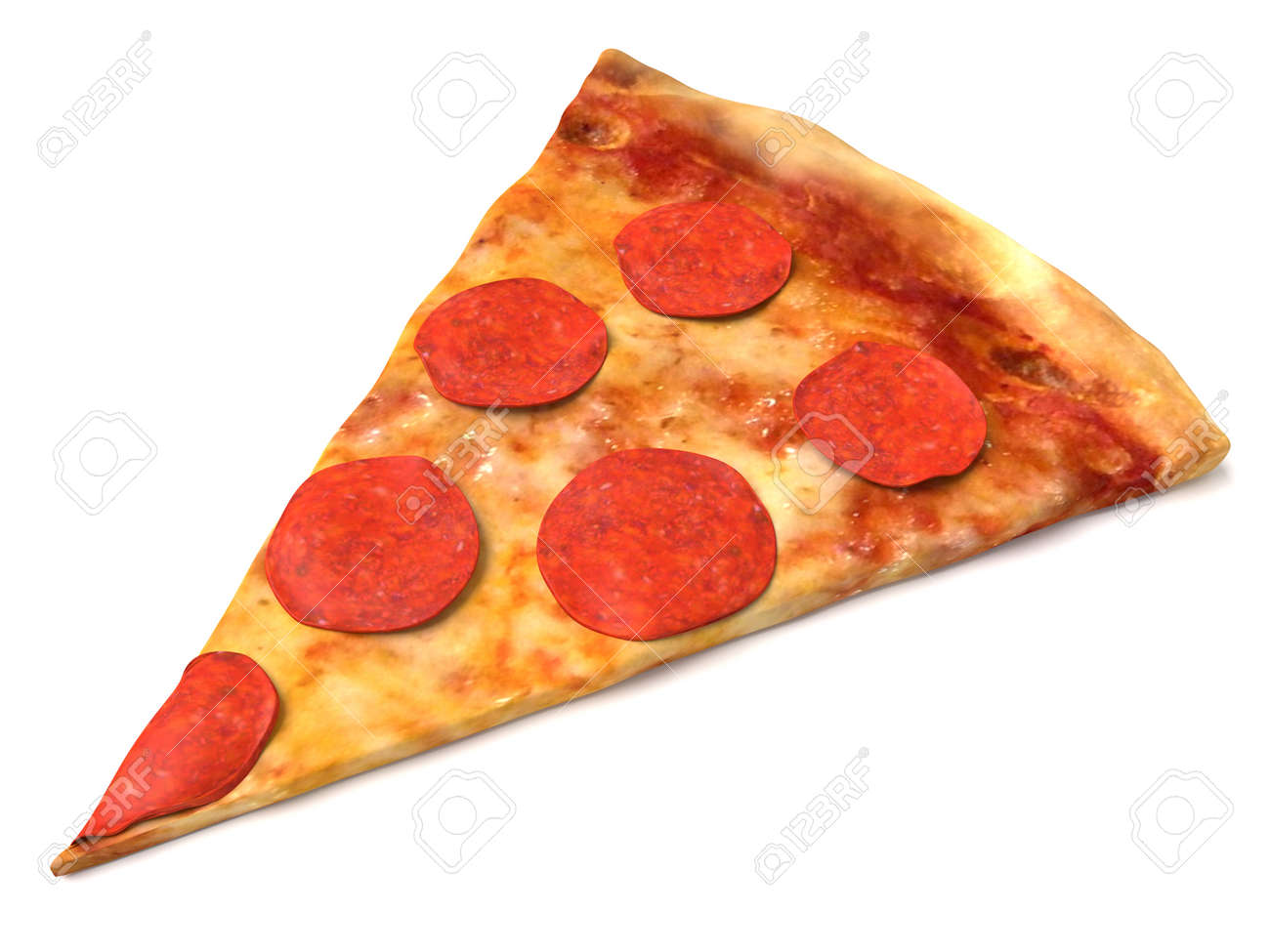3d illustration of a slice of pizza stock photo picture and royalty