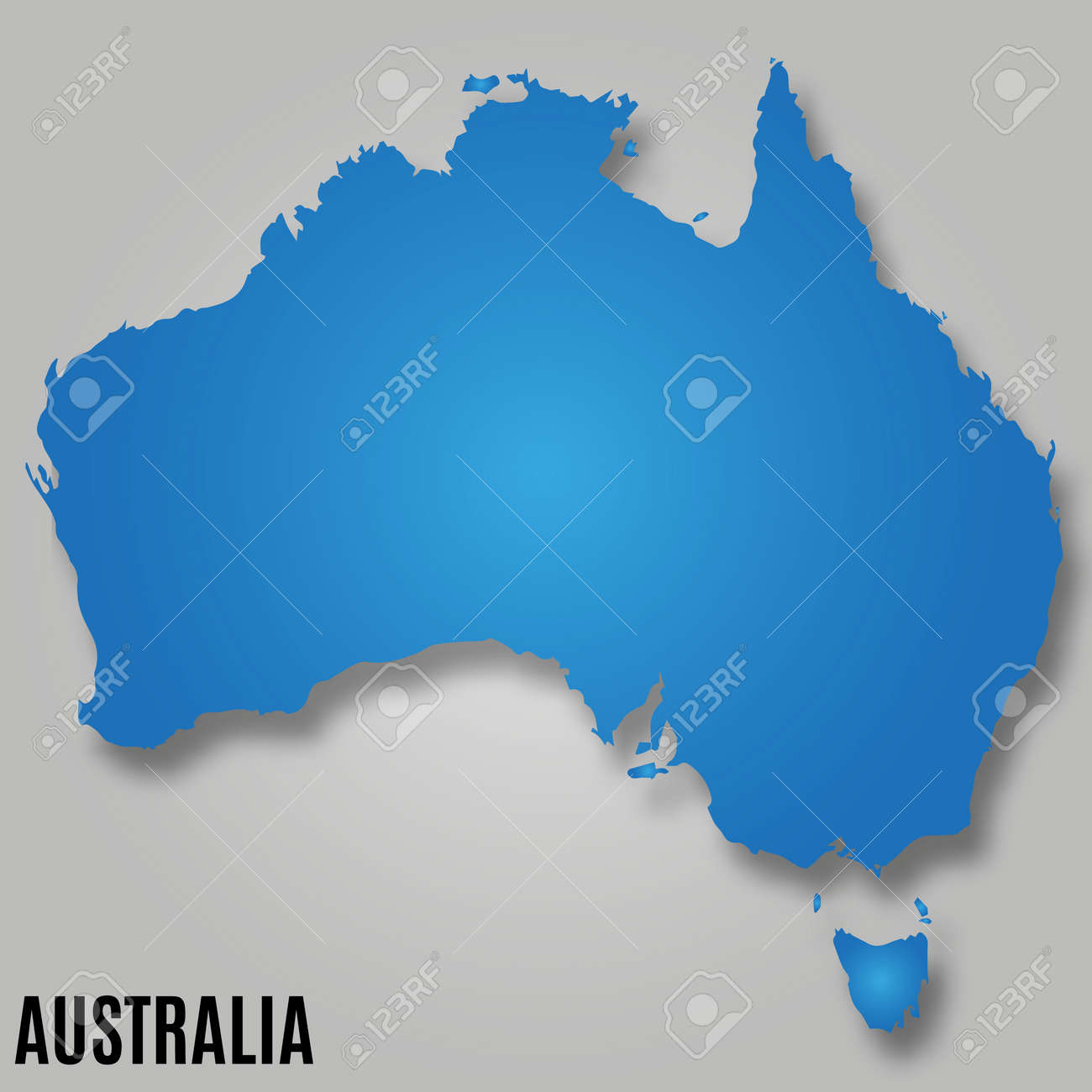 Map Australia Continent Country Vector Illustration Image Royalty ...