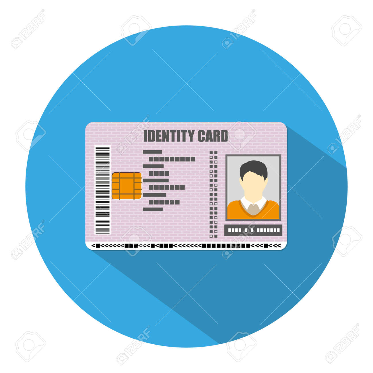 id card icon in blue circle with long shadow identity card royalty free cliparts vectors and stock illustration image 60486896 id card icon in blue circle with long shadow identity card