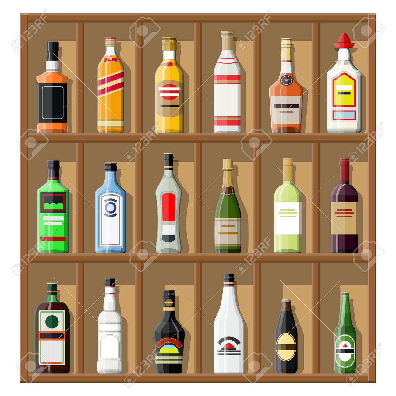 D'alcoolBouteilles Étagère De Clip Collection Art Sur Boissons Rcq35AL4j