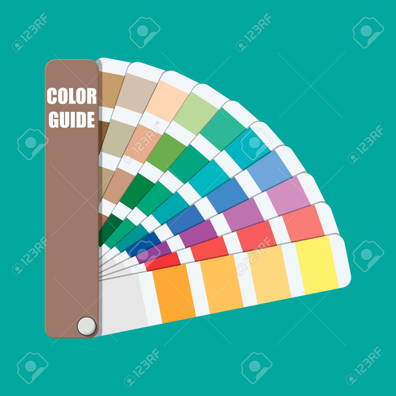 Muestra De Color. Guía De La Paleta De Colores. Escala Colorida ...
