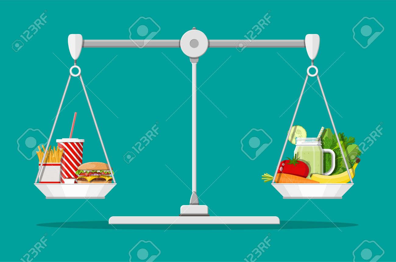 Greasy cholesterol vs. vitamins food - 100213085