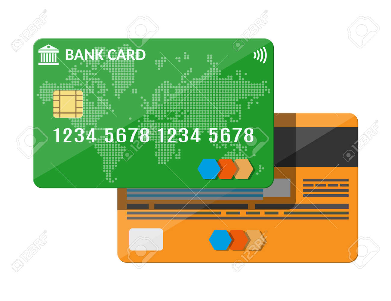bank card credit card template ロイヤリティフリークリップアート