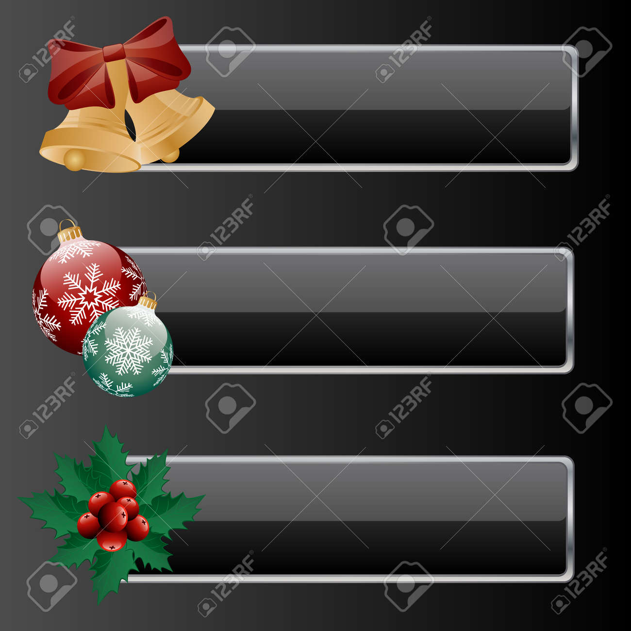 Banners with a christmas decoration. Stock Vector - 5912895