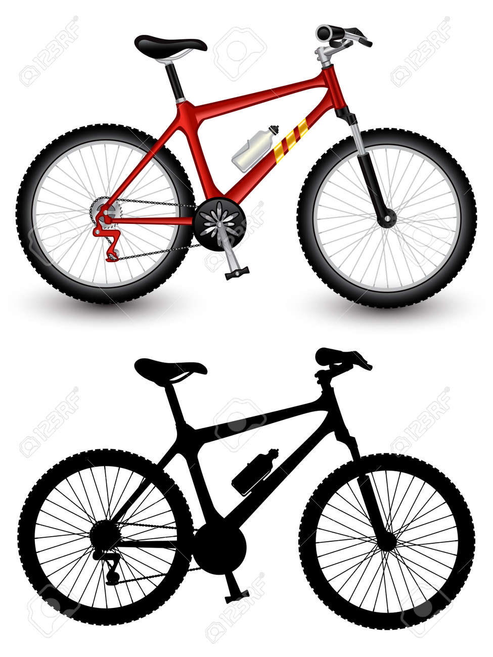 Isolated image of a bike Stock Vector - 8345089