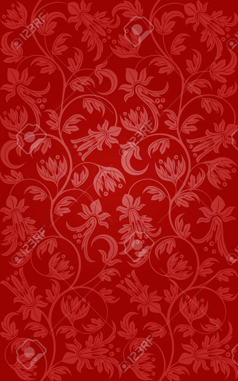 Seamless floral pattern. Retro background Stock Vector - 13068375