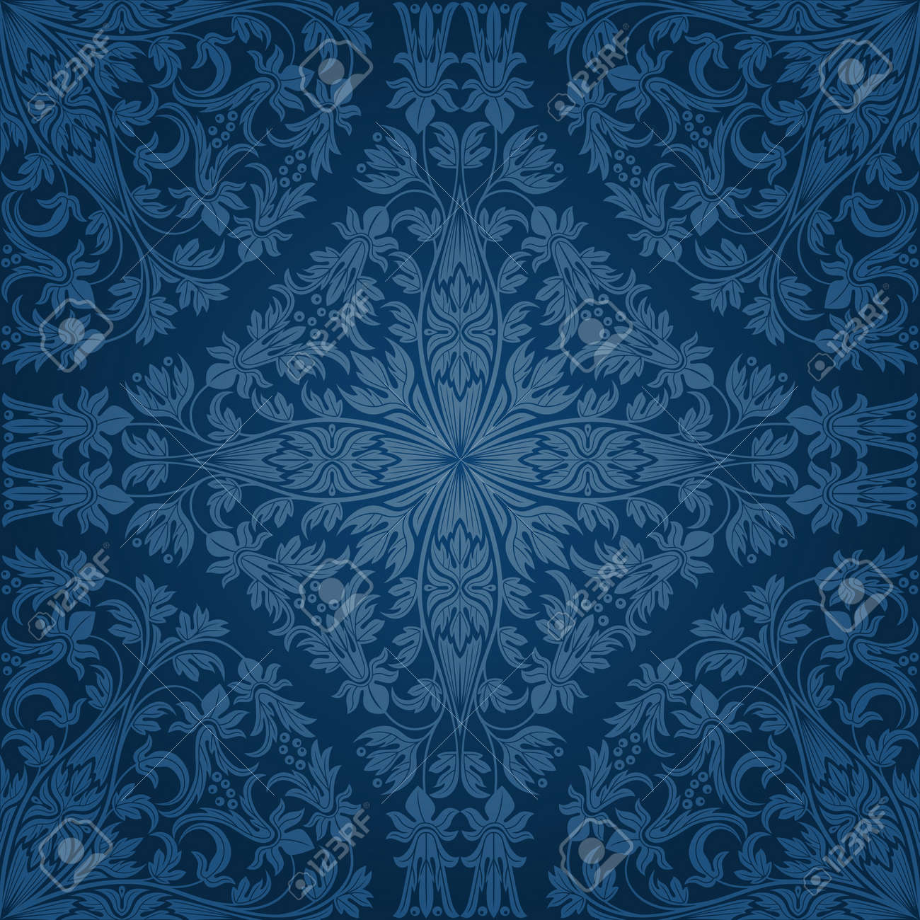 Seamless floral pattern. Retro background Stock Vector - 13330927