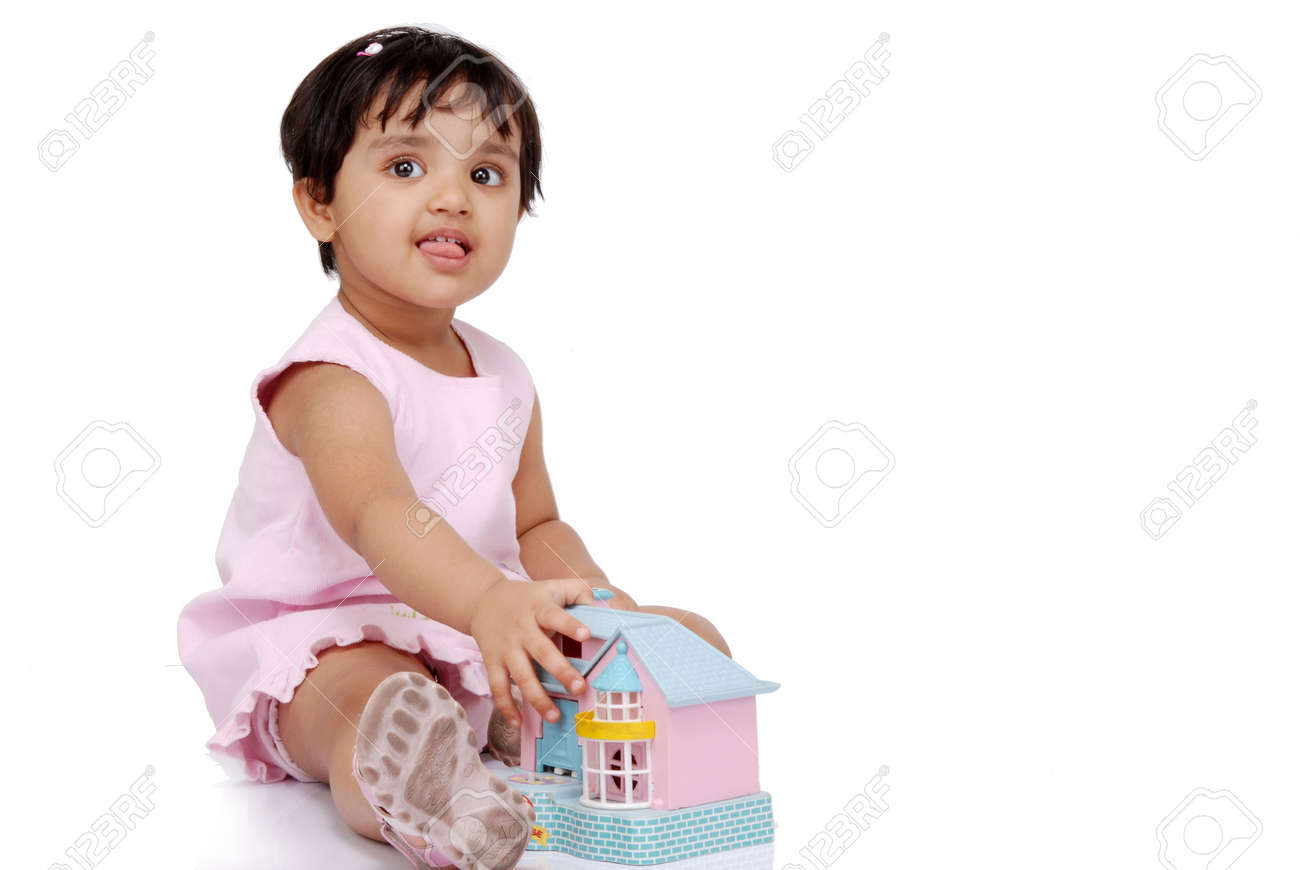 2-3 old year baby girl showing tongue Stock Photo - 5529075