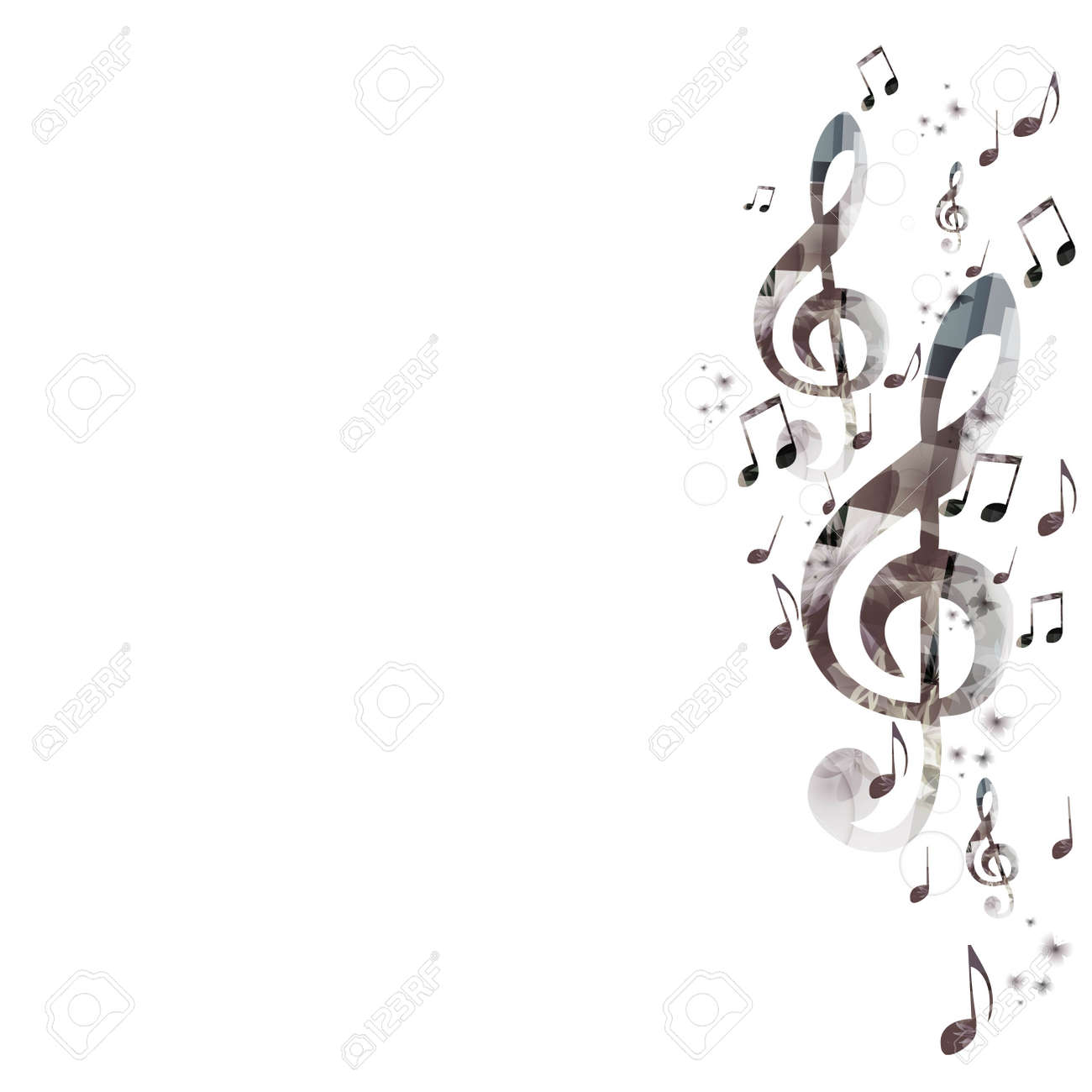 Music Background With G-clef Royalty Free Cliparts, Vectors, And ...