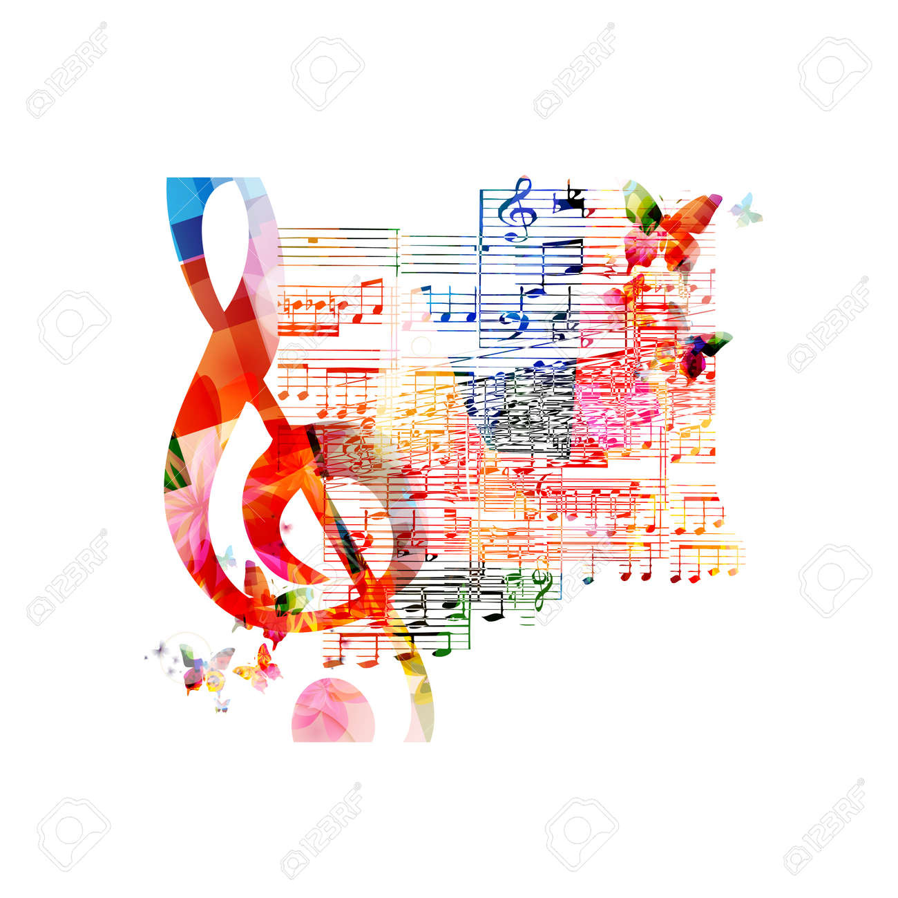 Colorful musical background - 38116637
