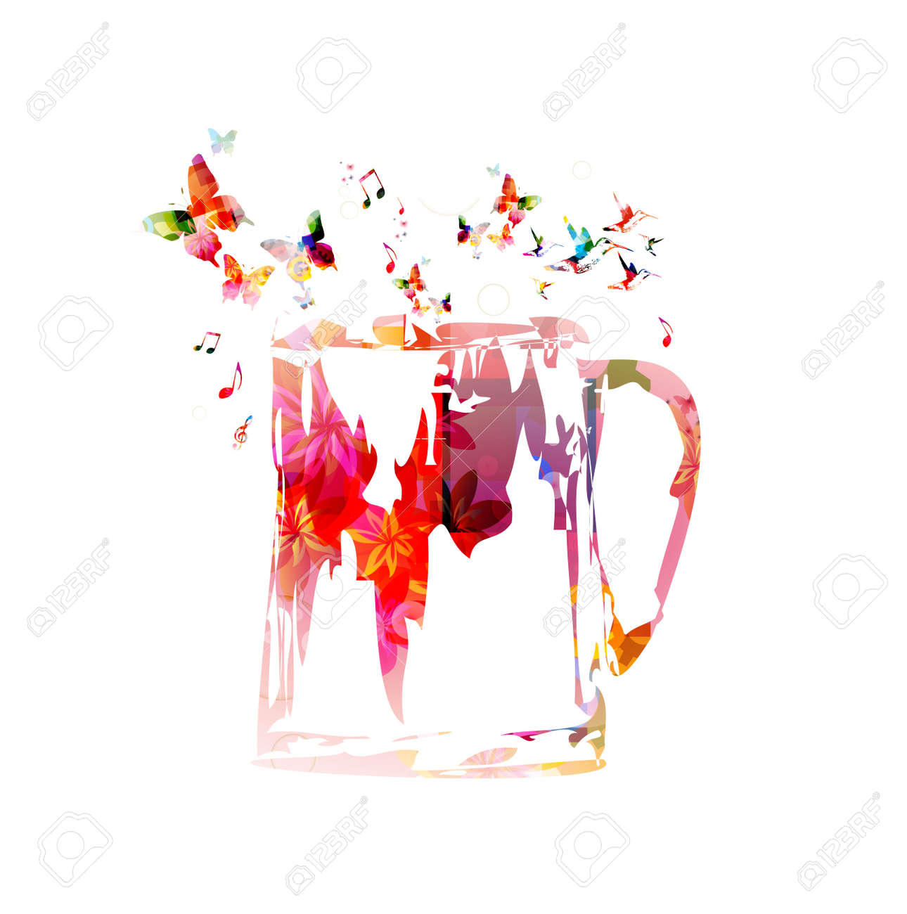 colorful beer mug design with butterflies background royalty free cliparts vectors and stock illustration image 38117084 colorful beer mug design with butterflies background