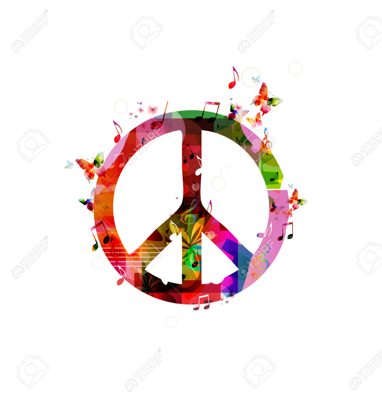 Colorful peace sign. Vector - 38117093