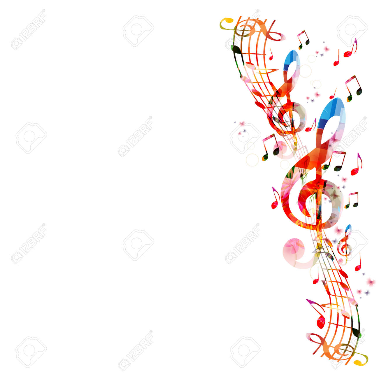 Music notes background - 43850249