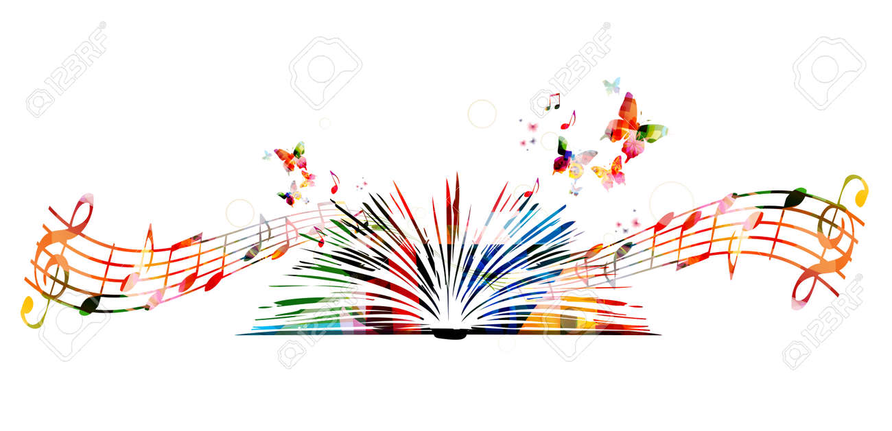 Colorful book with butterflies - 53306247