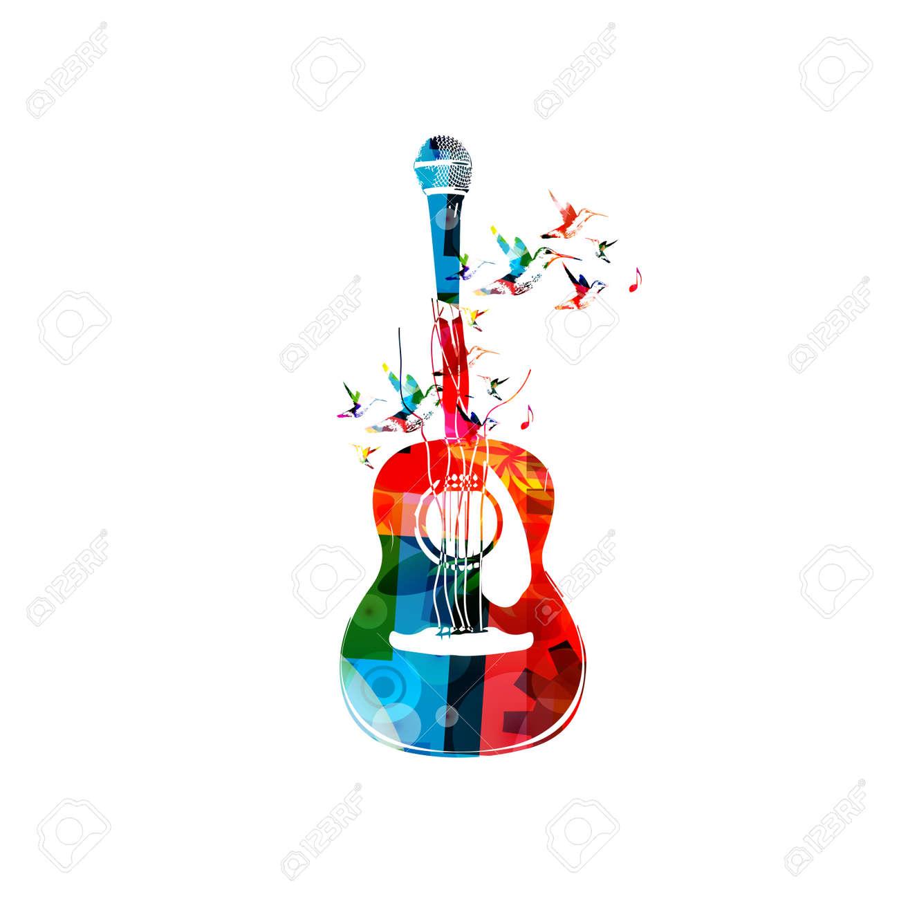 Ejemplo Creativo Del Estilo De Música Plantilla Vector, Colorido ...