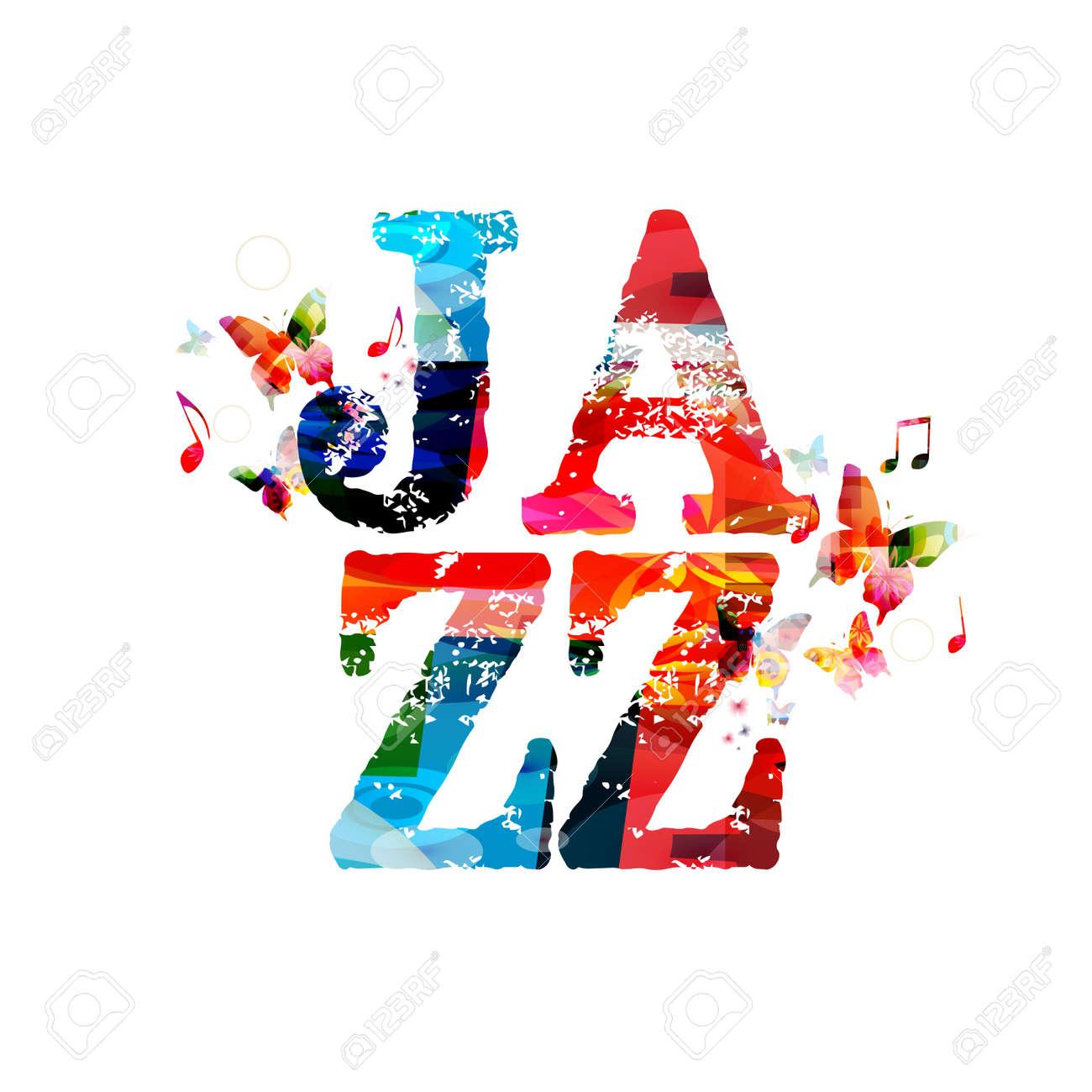 Jazz typographic vector illustration background music vector jazz typographic vector illustration background music vector jazz music with music notes colorful design stopboris Gallery