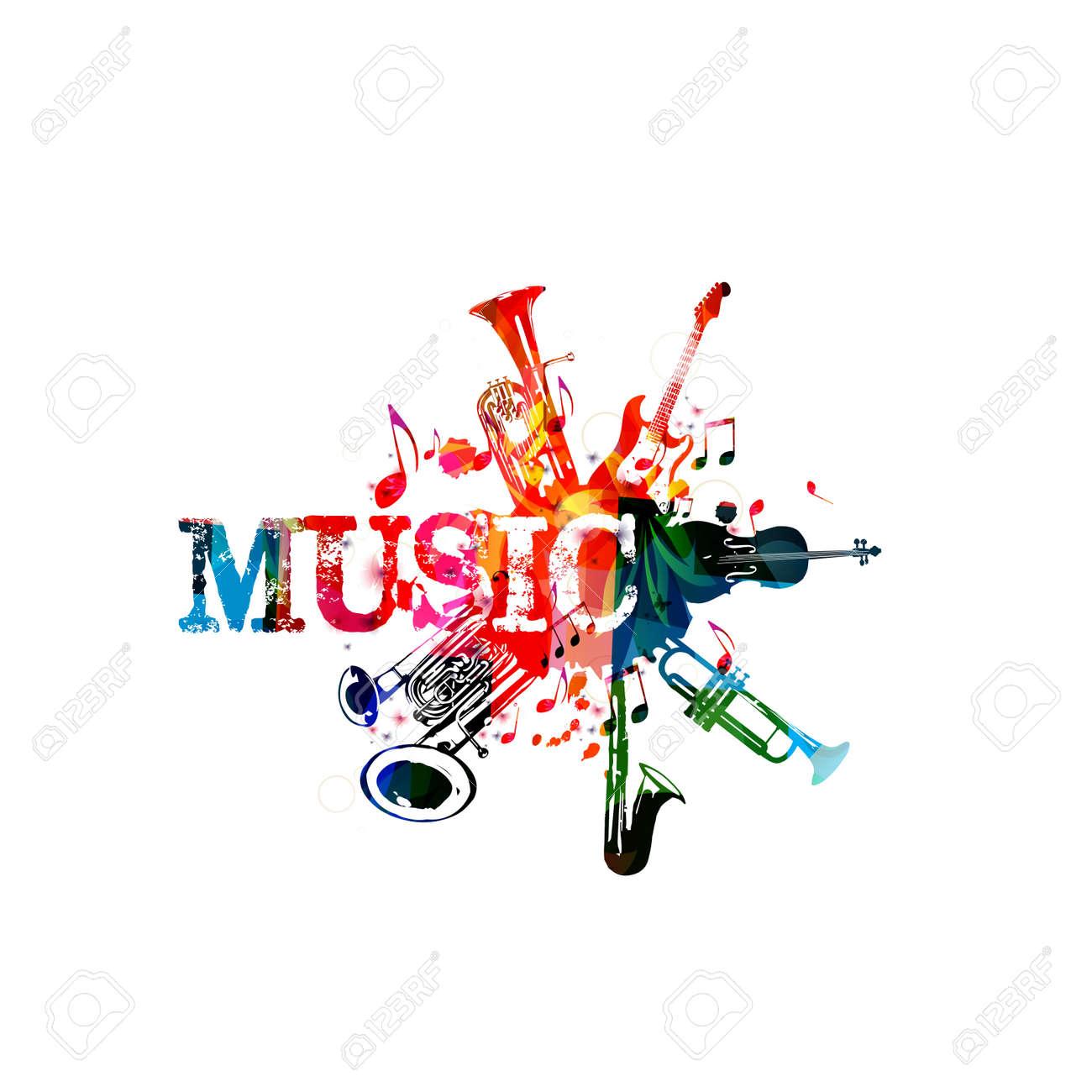 楽器と音楽のポスターカラフルなユーフォニアムベル ユーフォニアム