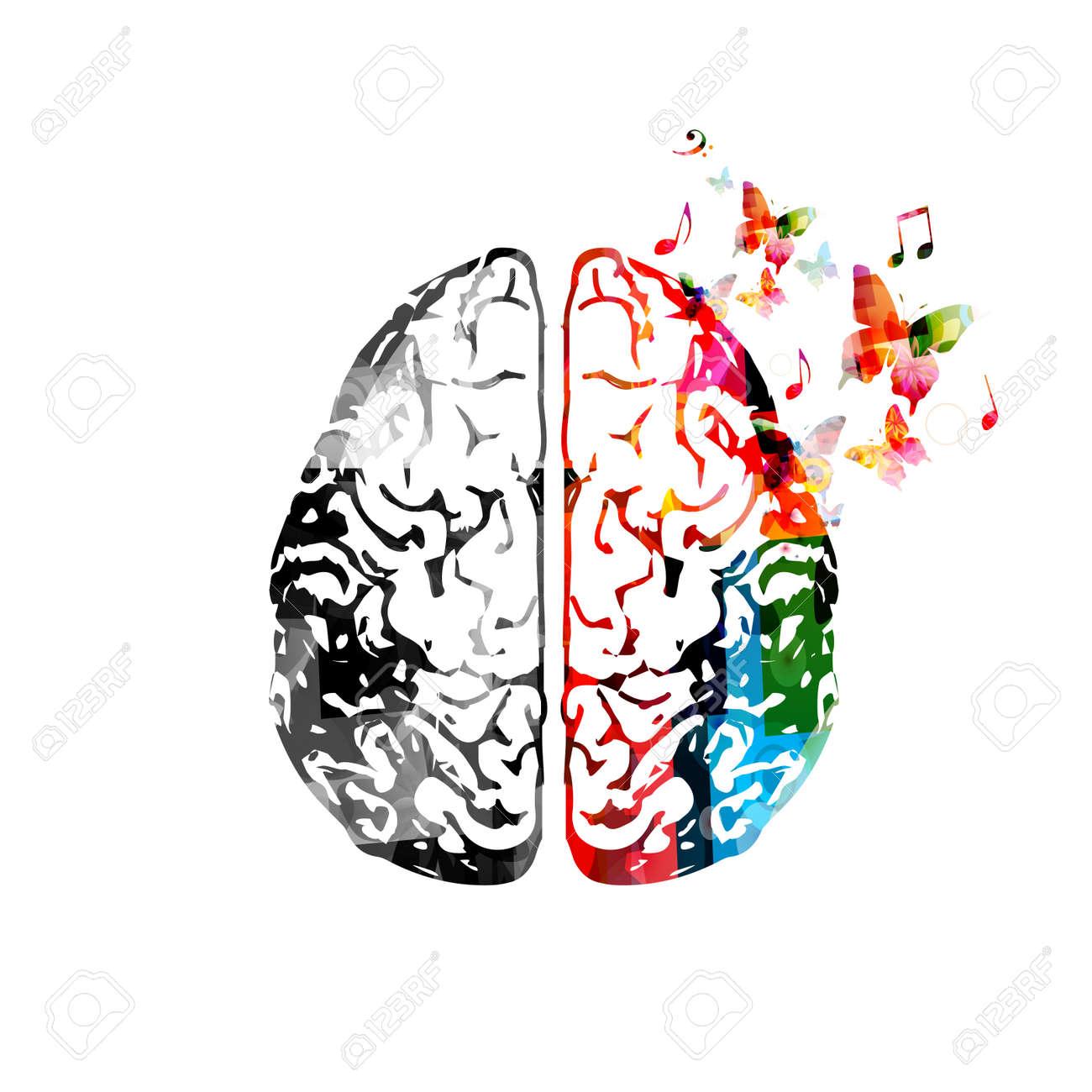 Colorful human brain illustration. - 85980662