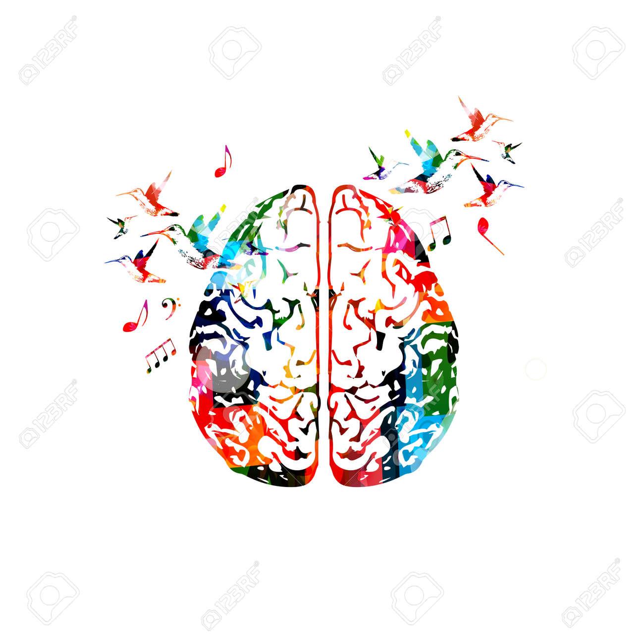 Colorful human brain illustration. - 85980663