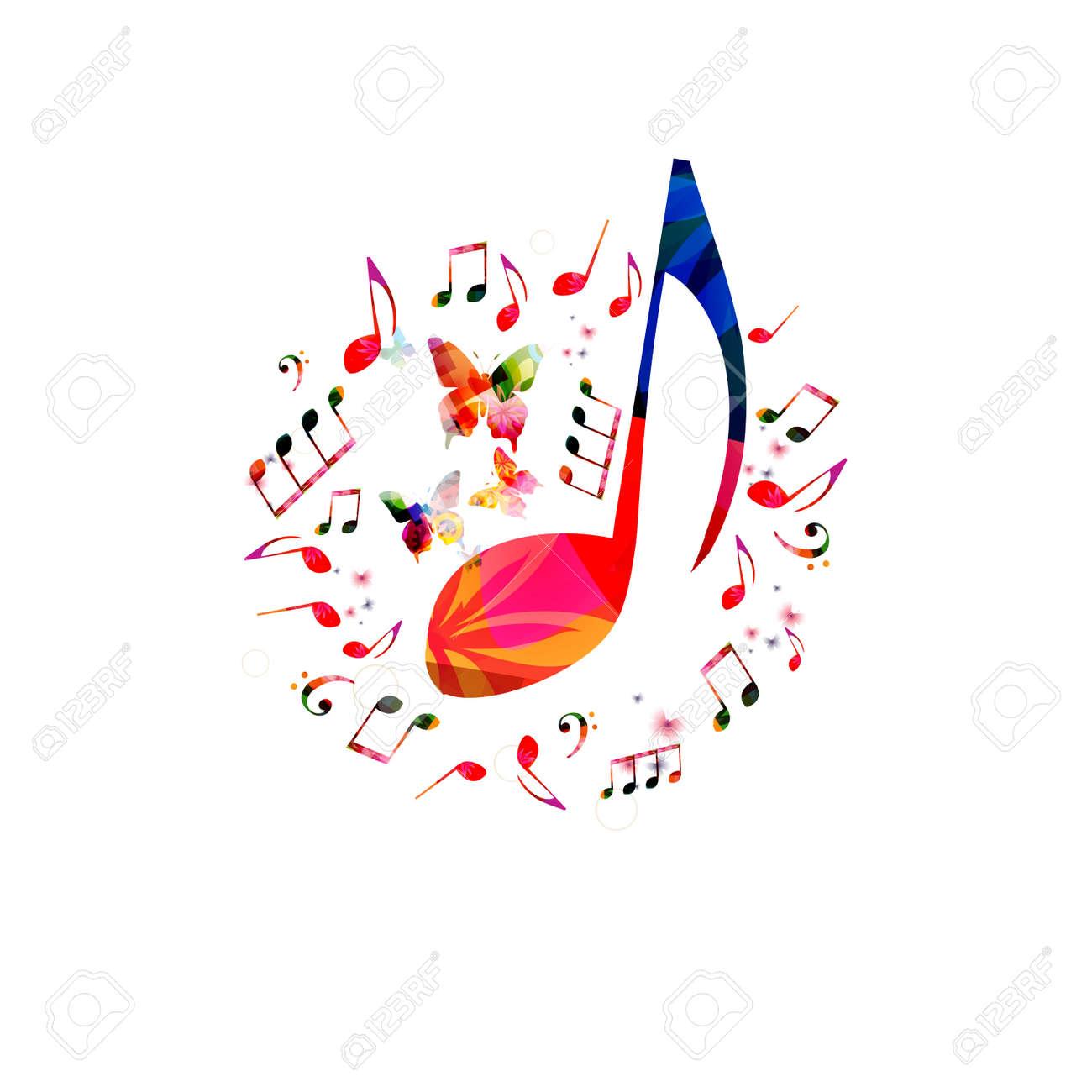 Diseño De Carteles De Música Con Notas Musicales Notas De La Música