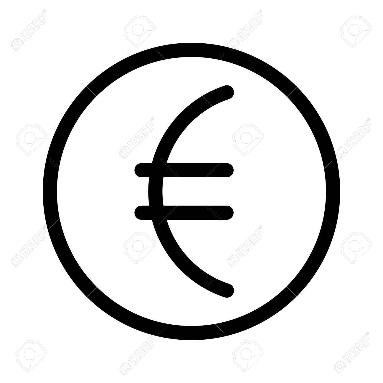 Euro vector icon in flat design. Vector illustration of the euro symbol. - 159158529