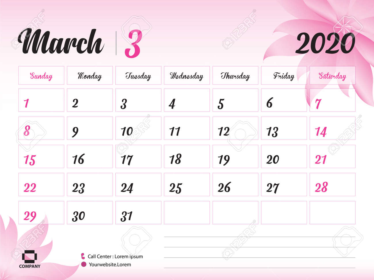 March Printable Calendar 2020.March 2020 Year Template Calendar 2020 Desk Calendar Design