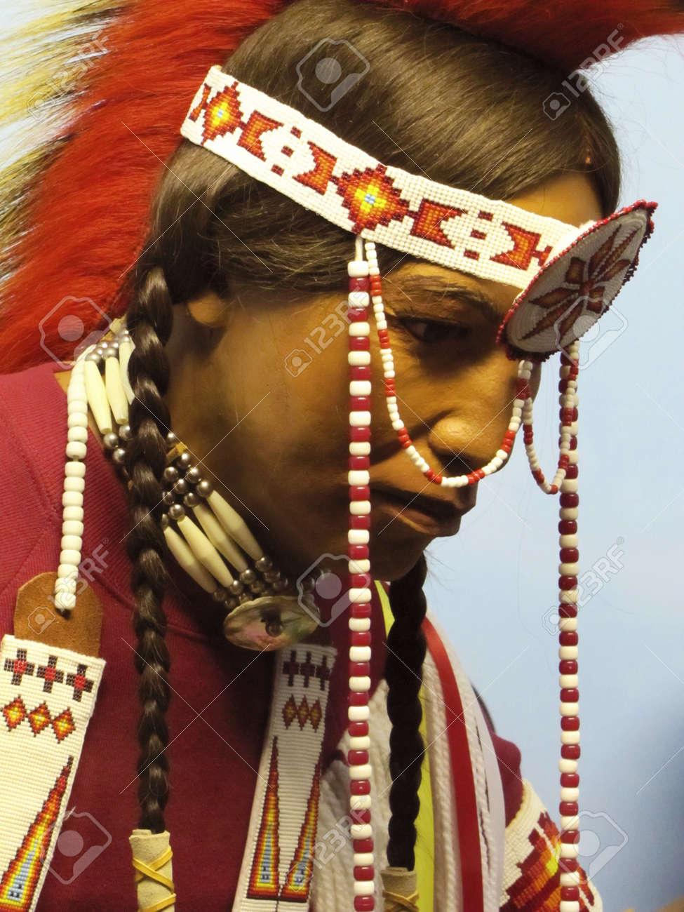 Native American mannequin at Harvard Museum                             Stock Photo - 20474029