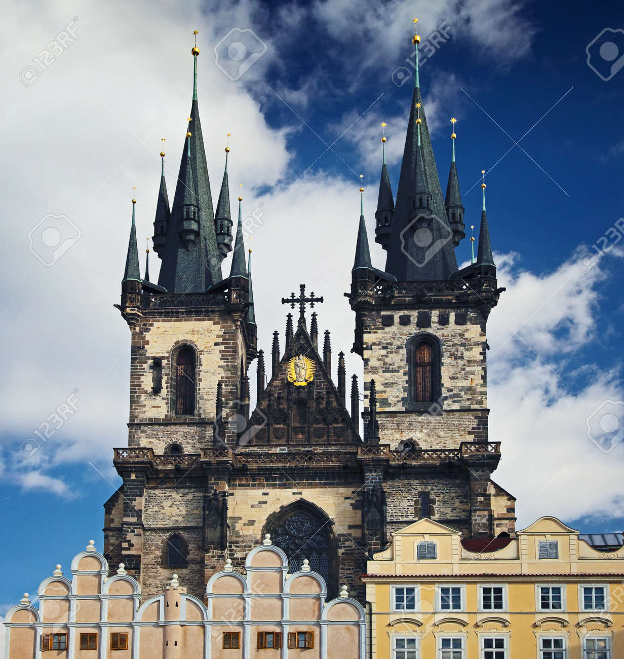 Tyn cathedral at Prague, Czech republic Stock Photo - 12937137