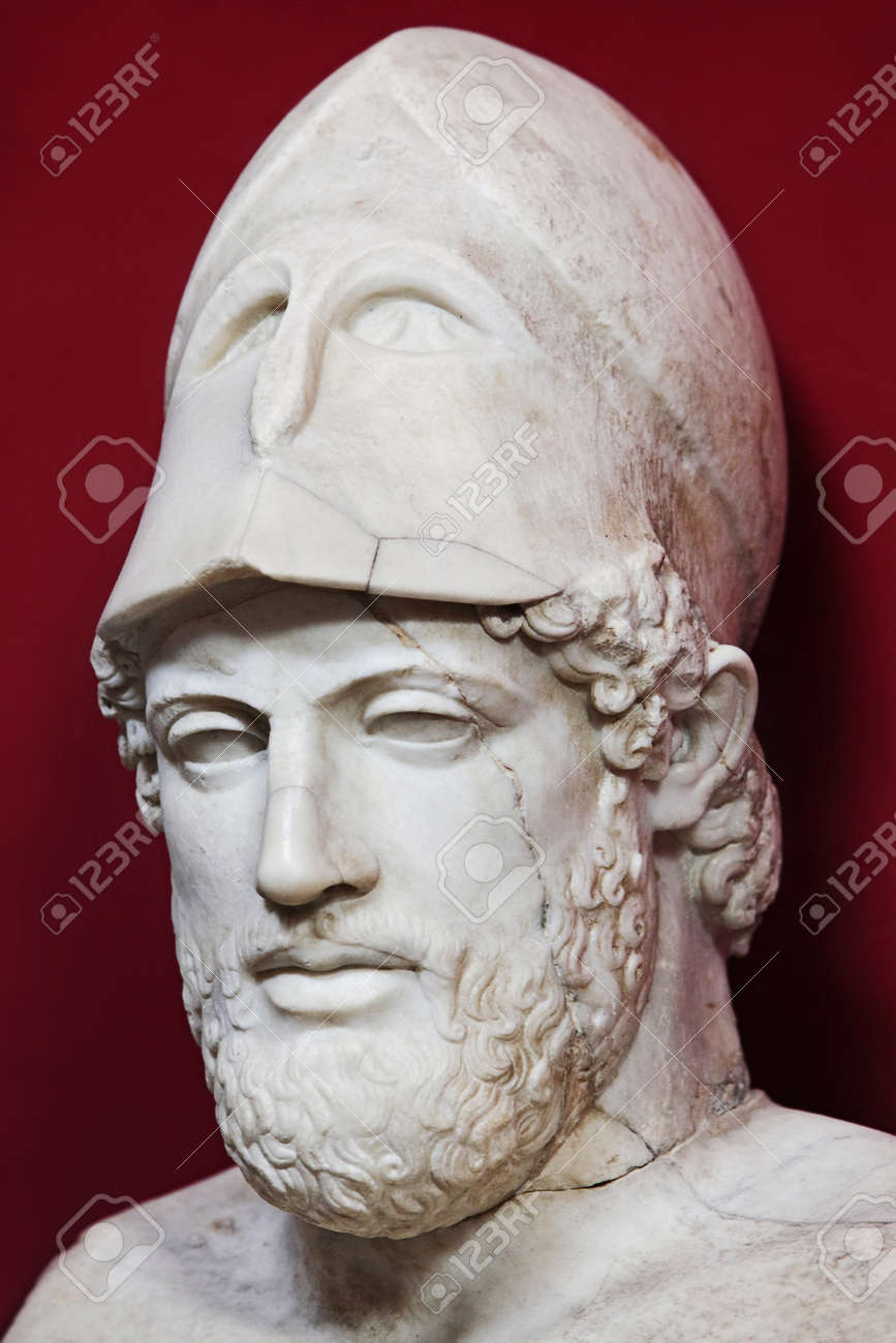 mármol antiguo busto de pericles estadista griego fotos retratos