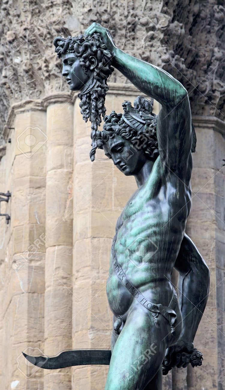 Perseus Holding The Head Of Medusa By Benvenuto Cellini