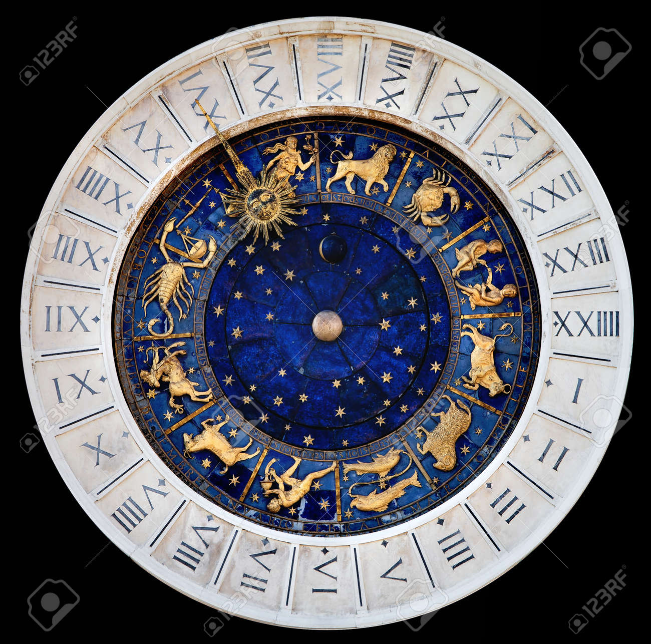 Zodiac Clock At San Marco Square In Venice Stock Photo, Picture And ...