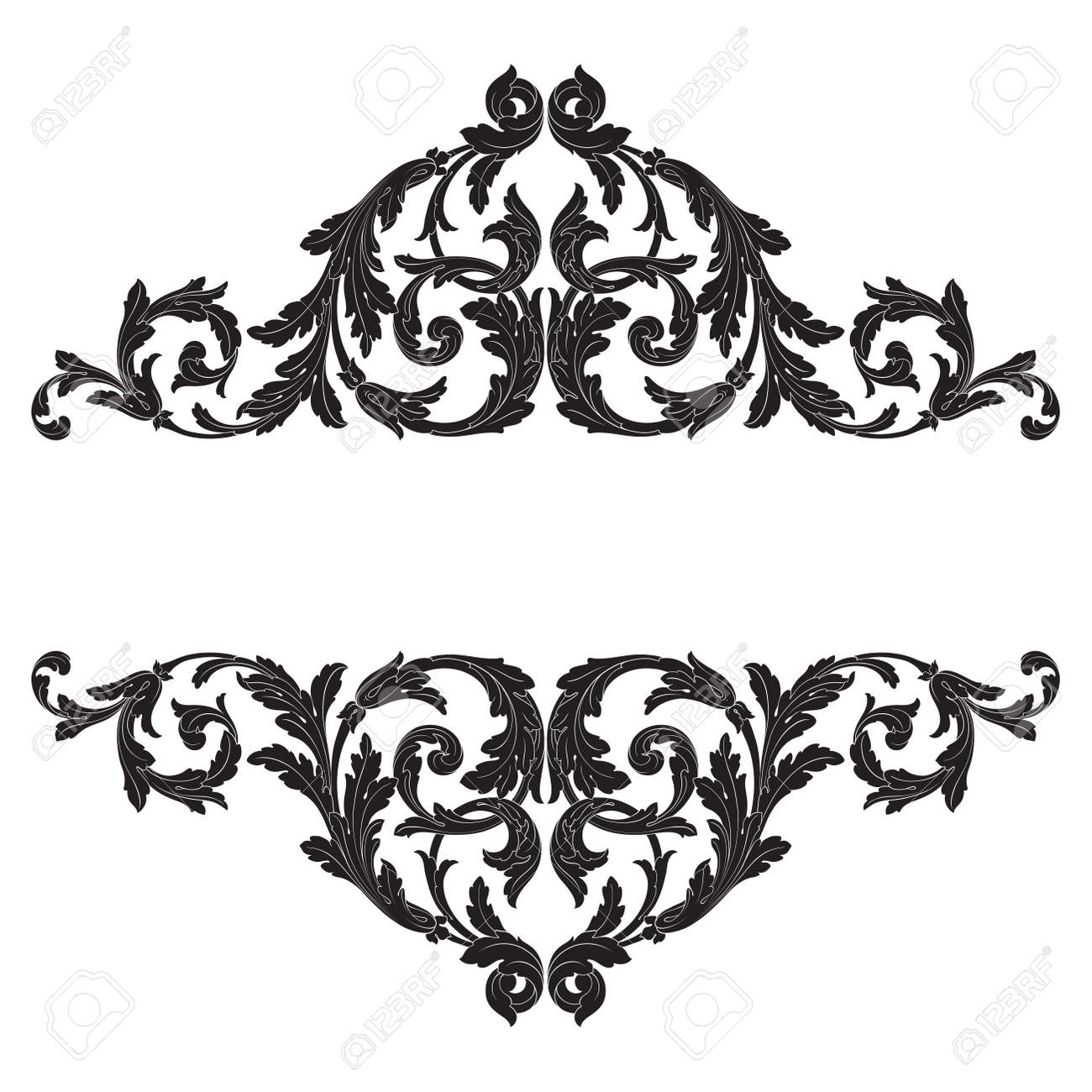 baroque vector vintage elements for design decorative design element filigree calligraphy vector you can