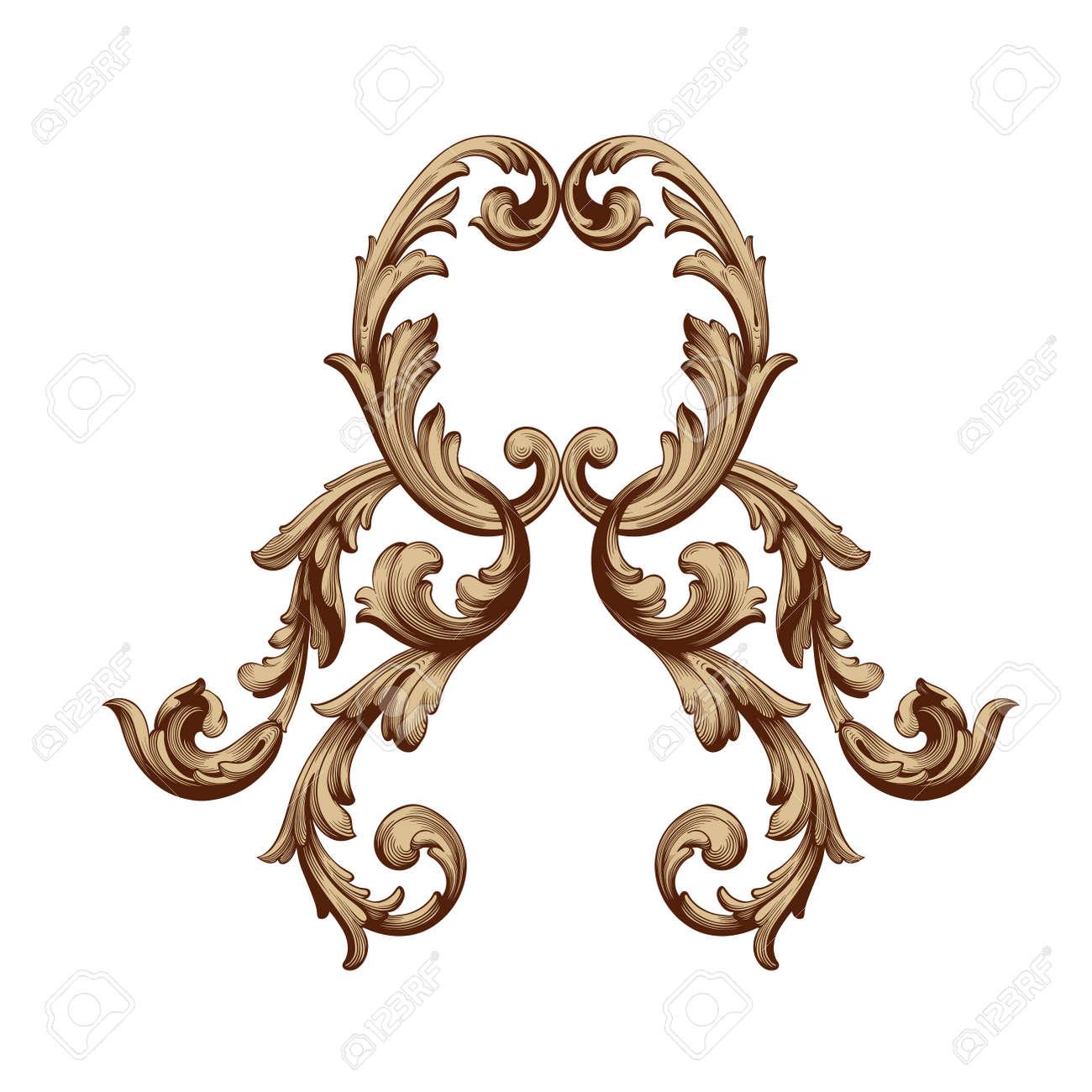 baroque vector set of vintage elements for design decorative rh 123rf com filigree vector line filigree vector line