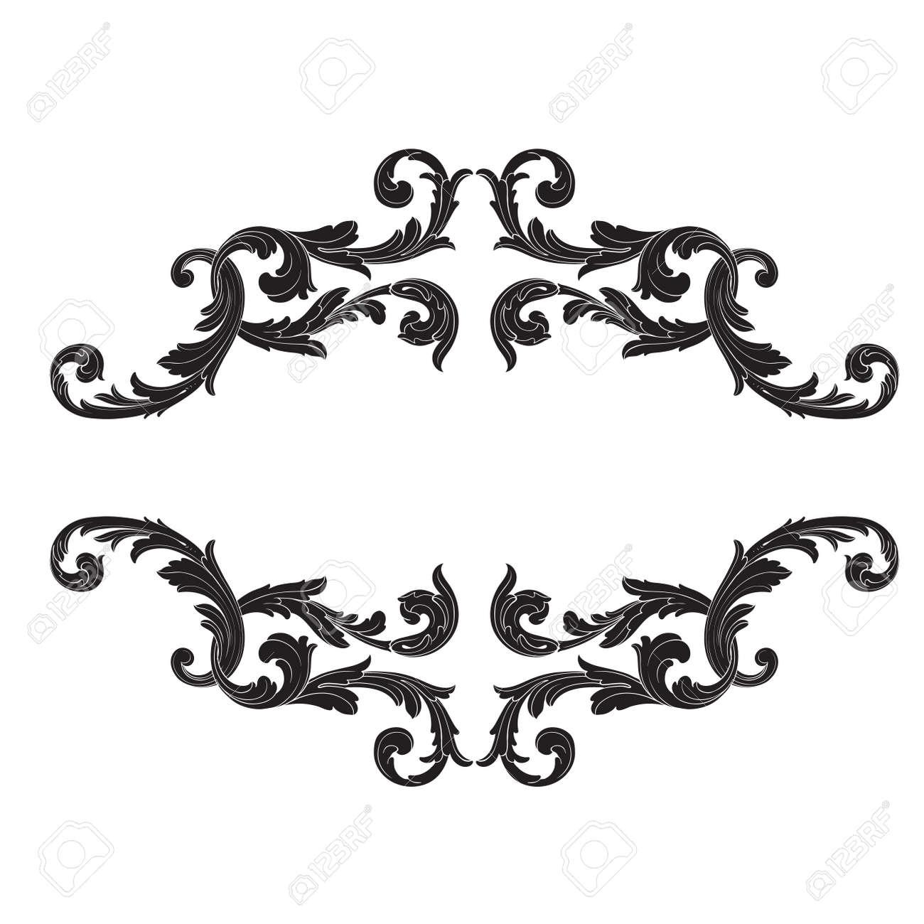 baroque vector set of vintage elements for design decorative rh 123rf com vector filigree corners vector filigree corners