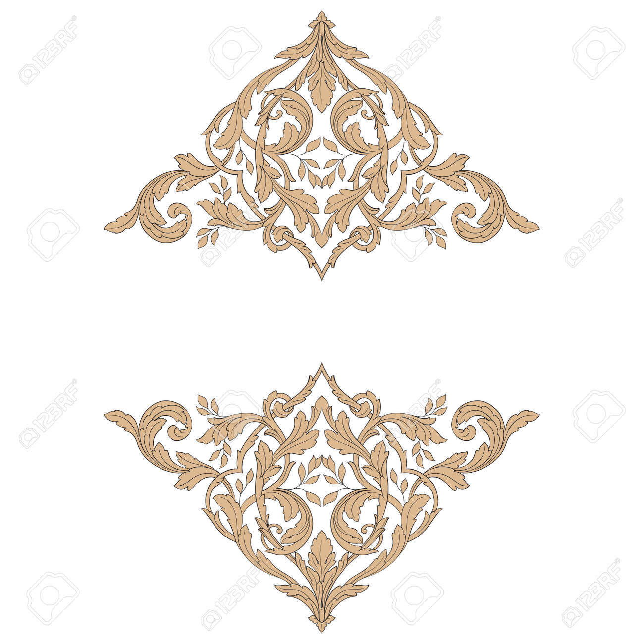 Ornament in baroque style you can use for wedding decoration you can use for wedding decoration of greeting card and laser junglespirit Gallery