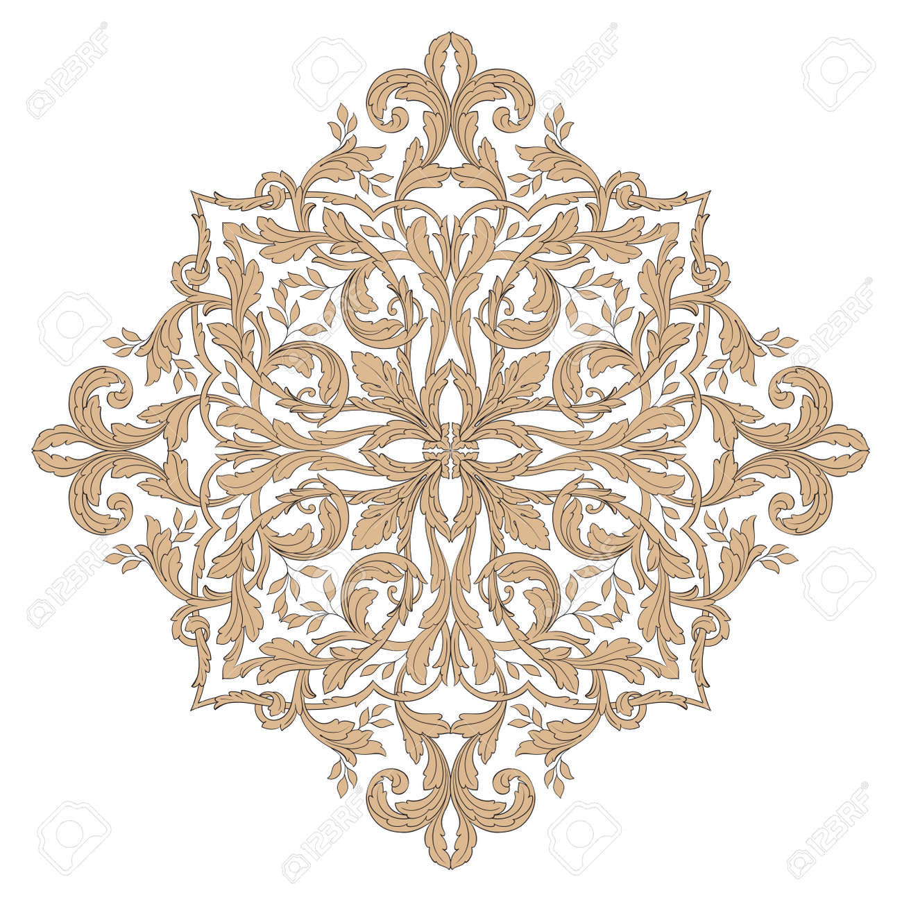 Ornament in baroque style. You can use for wedding decoration..