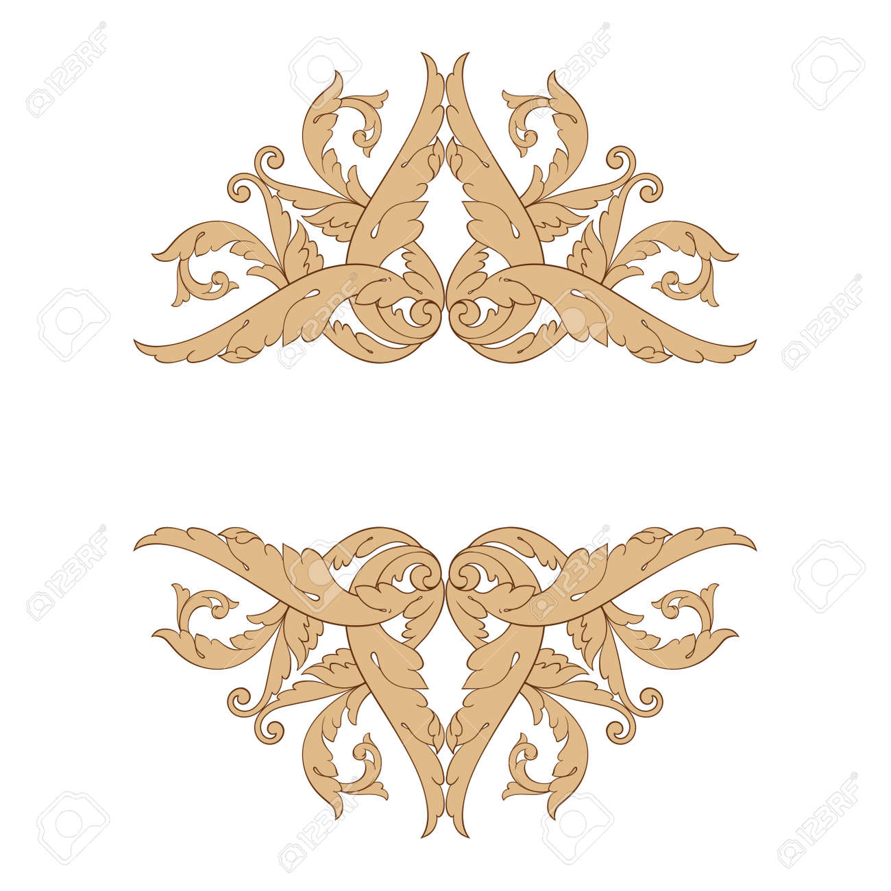 Baroque vector set of vintage elements for design decorative baroque vector set of vintage elements for design decorative design element filigree calligraphy vector junglespirit Image collections