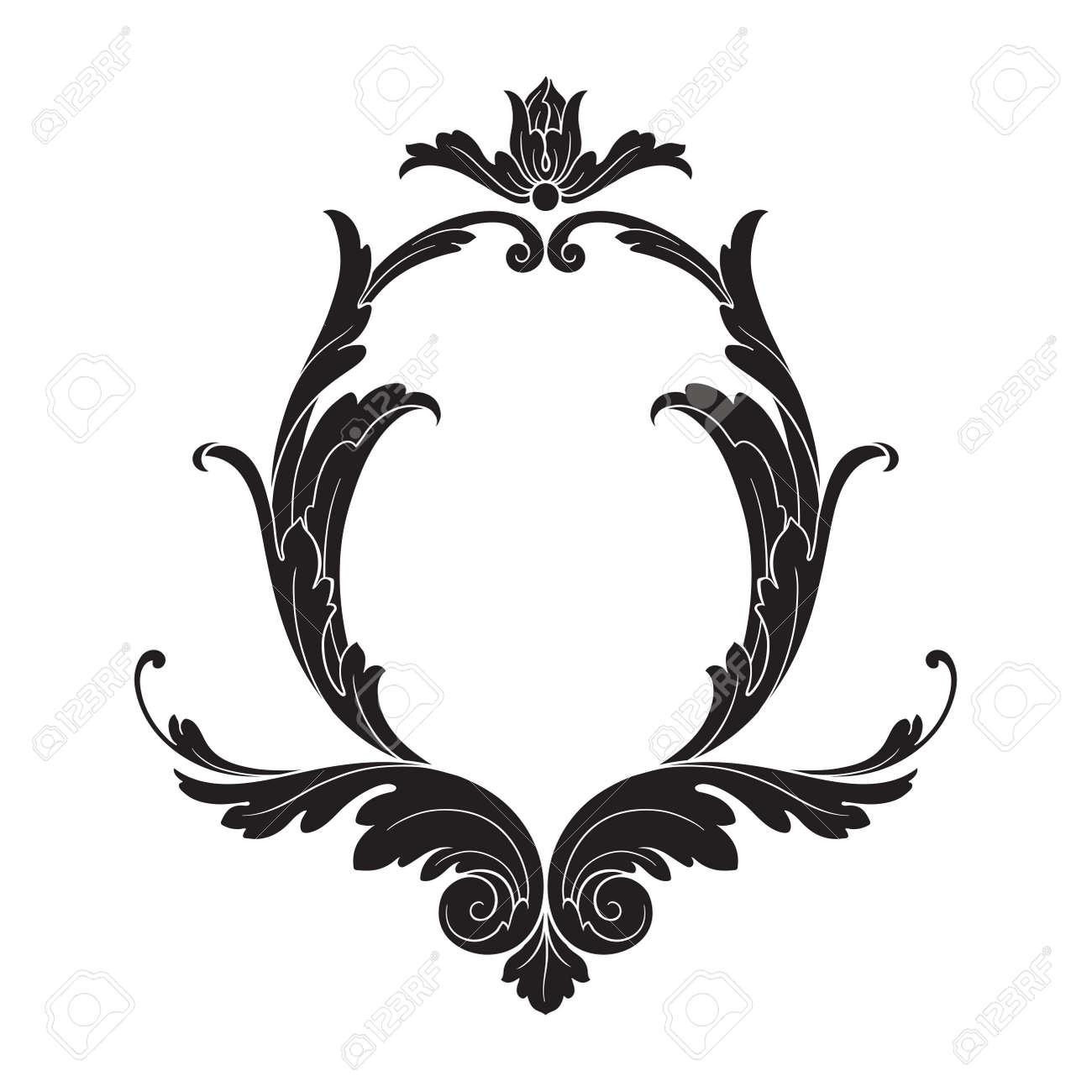 classical baroque vector of vintage element for design decorative rh 123rf com filigree factory shop codnor filigree vector corner