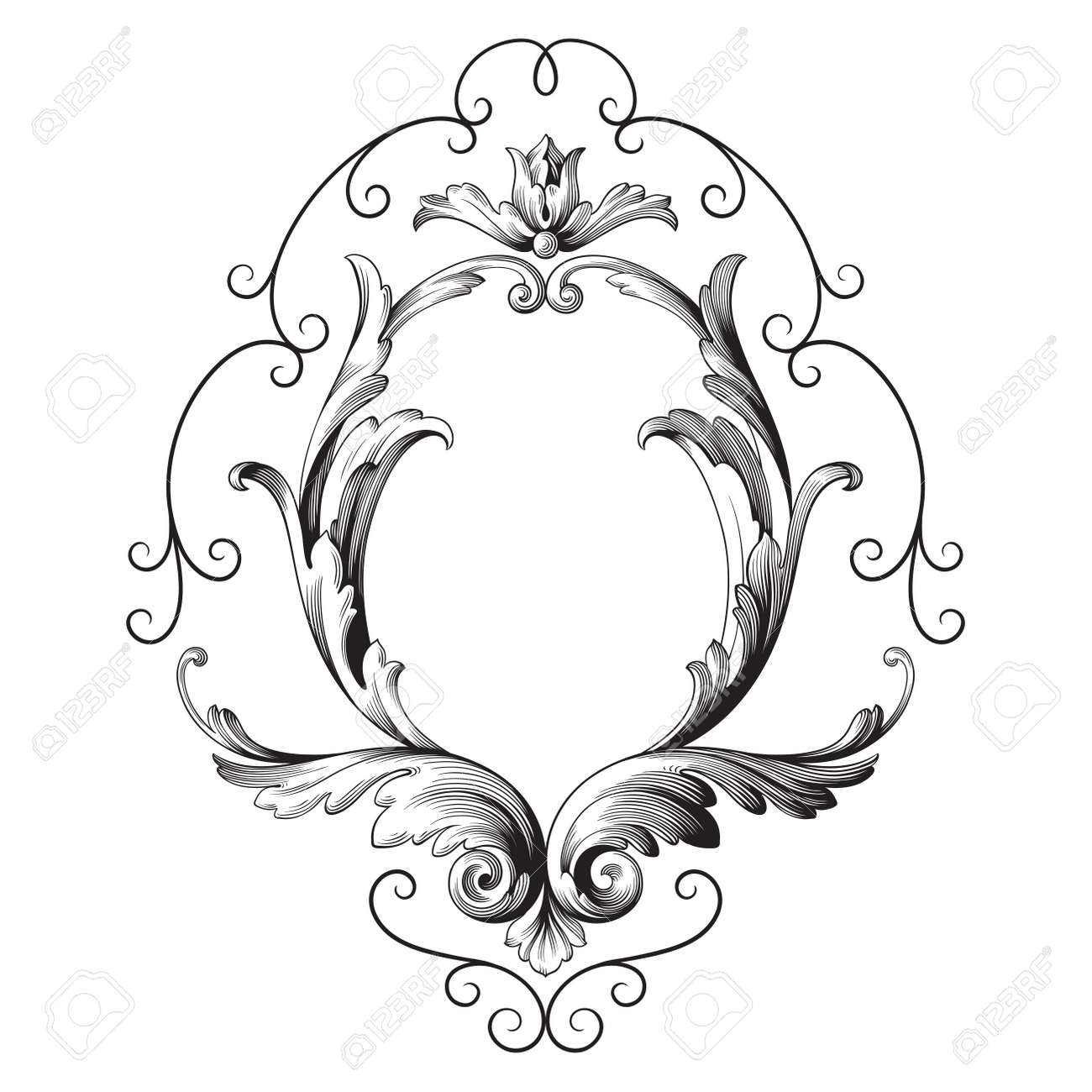 Classical baroque vector of vintage element for design decorative classical baroque vector of vintage element for design decorative design element filigree calligraphy vector junglespirit Image collections