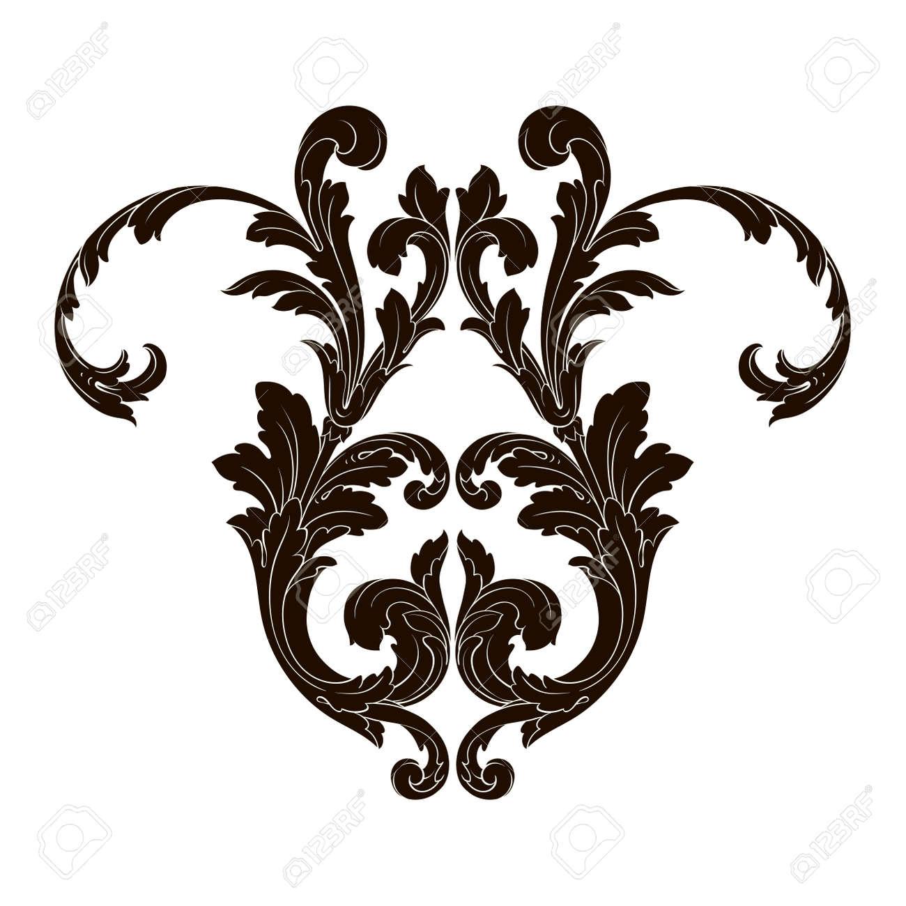 classical baroque vector of vintage element for design decorative rh 123rf com vector filigree corners vector filigree free download