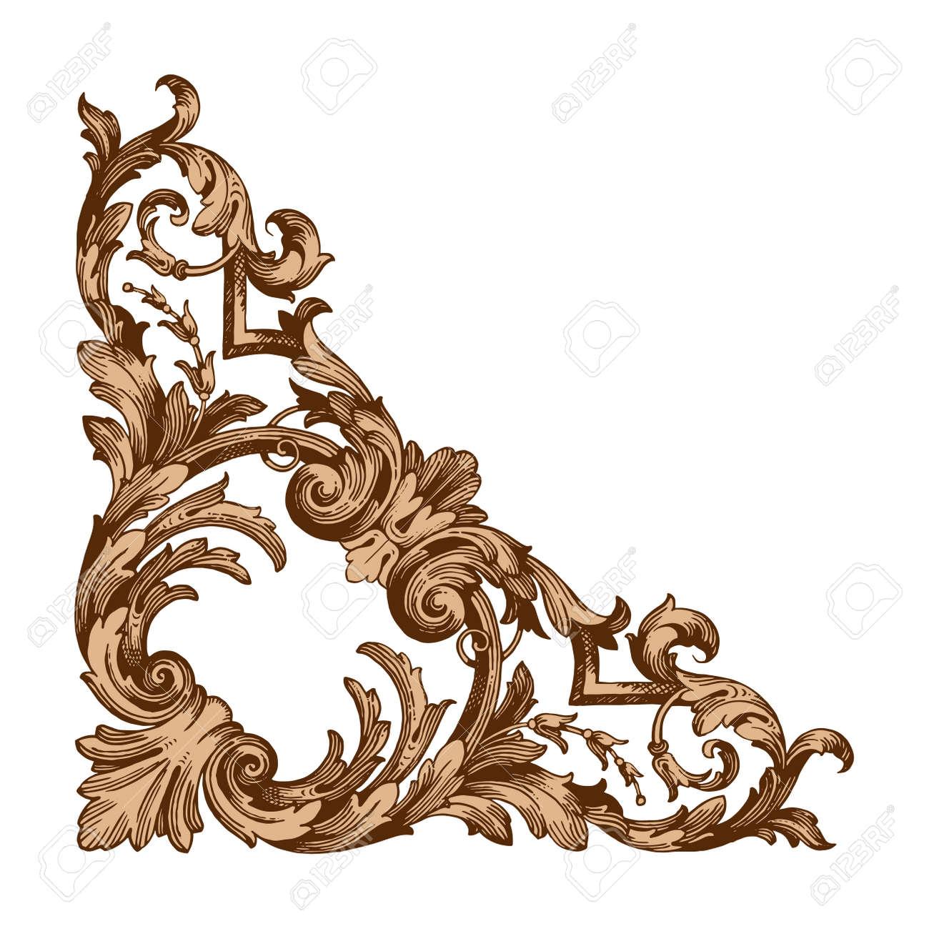 classical baroque vector of vintage elements for design decorative rh 123rf com filigree vector image vector filigree border