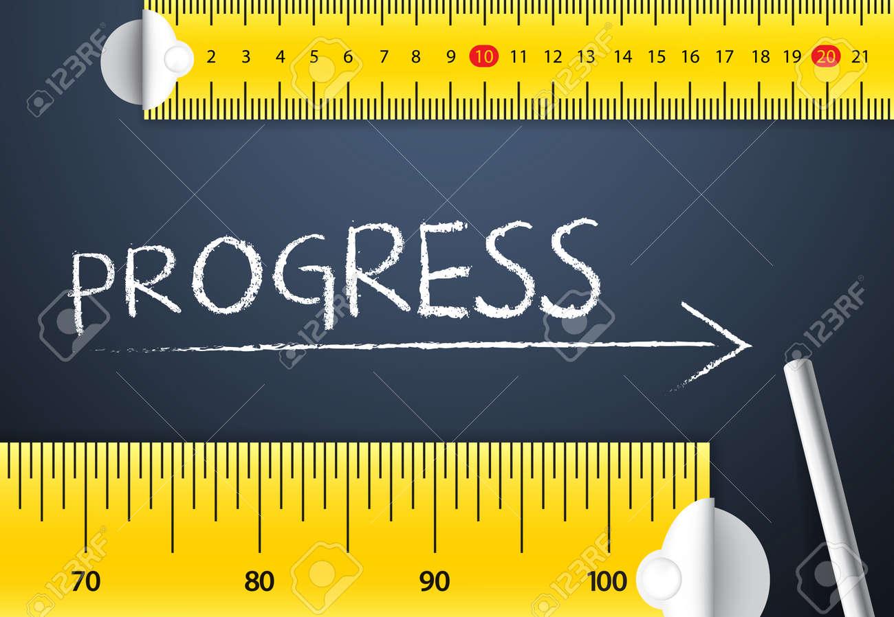 Medir El Progreso O El Concepto De Mejora. Dos Diferentes Cinta ...