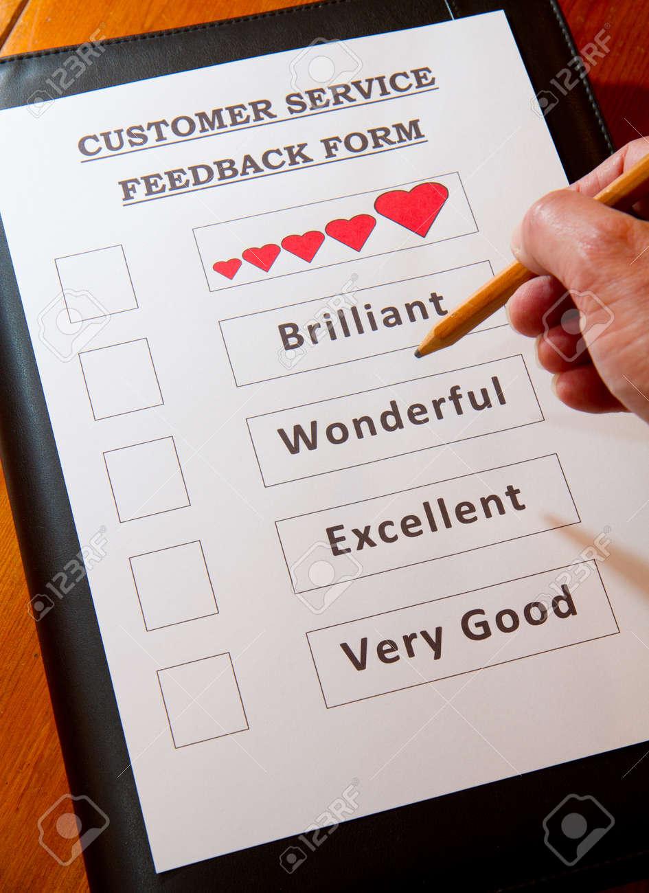 Customer Service Feedback Document option to love Stock Photo - 16959357
