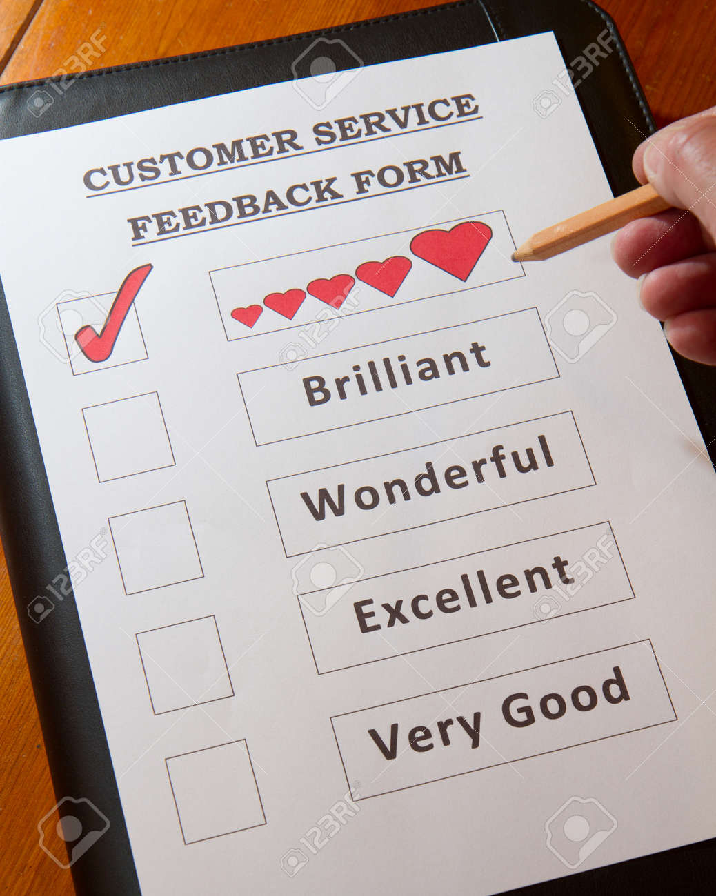 Funny Customer Service Feedback Form option to love